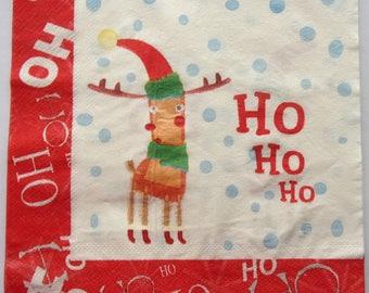 20 Christmas the REINDEER's father Christmas 3648 paper napkins