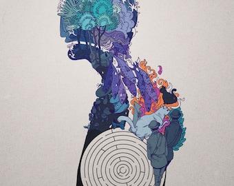 "Kafka On the Shore 8 x10"" print"