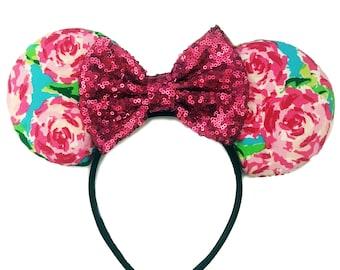 Floral Mickey Ears II | Flower & Garden | Lily Pulitzer