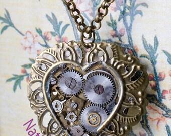 Floral clock heart