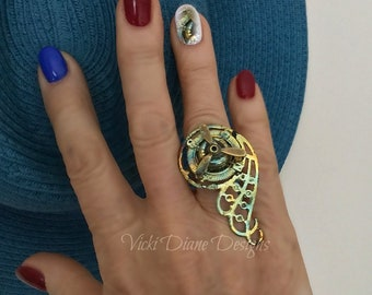 Steampunky funky ring
