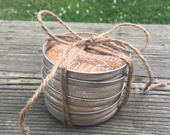 Mason Jar Lid Coasters ____ Set of 4