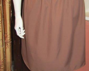 "Size M 46""/48"" Hip Taupe Kick Pleat Skirt - Plus Size"