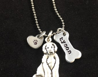 Labradoodle Goldendoodle Personalized Necklace Custom Doodle Jewelry