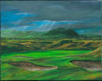 "Golf Art. Golf Gift. Golf Wall Decor. Waterville Golf Links, ""High_Point"". Print of original oil painting."