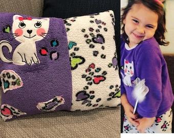 Keepsake Pillow.  Favorite Pj's Pillow, Favorite Tee Shirt Pillow,