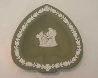 Vintage Unusual Wedgewood Dish with Angel Holding a Head