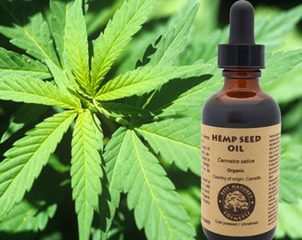 100% Pure Hemp Seed Oil (organic, cold pressed, unrefined)