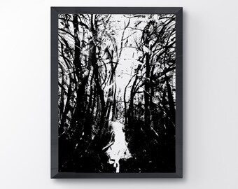 Lost Art Print Running Girl Dark Forest Art Little Girl Black And White Scary Forest Fantasy Art Home Decor Wall Decor Ink Art  sc 1 st  Etsy & Scary woods | Etsy