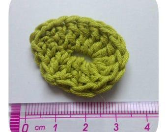 Set of 4 leaves crochet