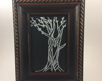 Chalkboard with tree