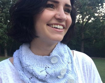 Buttoned Lace Cowl