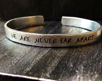 Engraved bracelet, Personalized Bracelet, Cuff Bracelet, quote bracelet