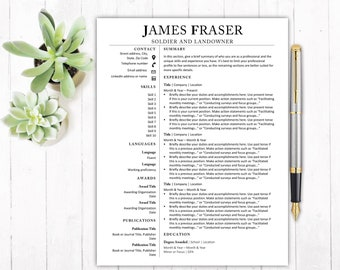 Resume Template CV Template Professional Resume Template Resume Template Word Creative Resume Template Modern Resume Template Standard CV