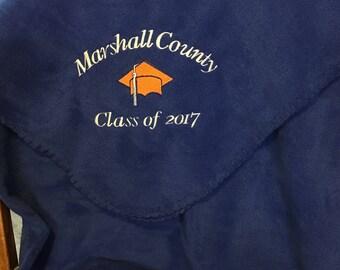 Embroidered Graduation Blanket