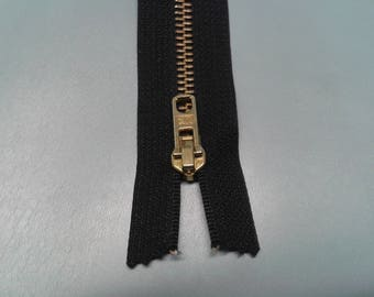 Zipper YKK mesh 5.5 brass not separable black 25cm