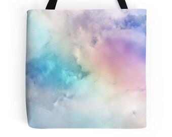 Rainbow Tote, Cloud Tote, Rainbow Bag, Sky Bag, Rainbow Tote Bag, Rainbow Purse, Rainbow Bag, Rainbow Bookbag, Rainbow Photo Bag, Rainbow