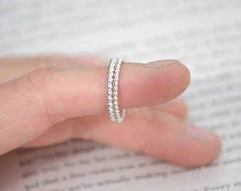 Stacking Ring In Sterling Silver, Everyday Jewelry Handmade In England, Made To Order Rings