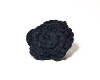 Lapel Flower Navy