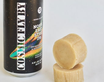 Organic beer shaving soap, Hand crafted with Cosmic Fly By from Ol' Republic Brewery