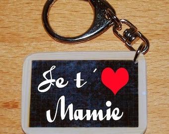 Keychain style slate of school you I love Grandma