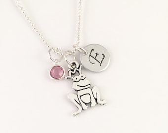 Personalized Frog Necklace, Initial Frog necklace, personalized jewelry, Frog Prince necklace, Fairy Tale necklace, gift for her