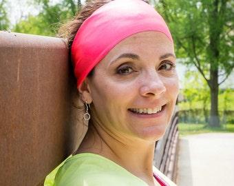 Coral Spandex Headband - Fitness Headband - Yoga Headband - Solid Headband - Workout Accessory - Fitness Apparel - Wide Headband - Non Slip