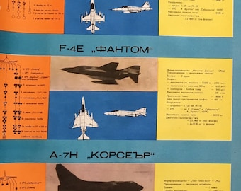 1960's Communist poster of NATO planes from Cold War era