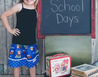 Back to school  Skirt    (18 mos,24 mos  2T, 3T, 4T, 5, 6, 7, 8, 10)
