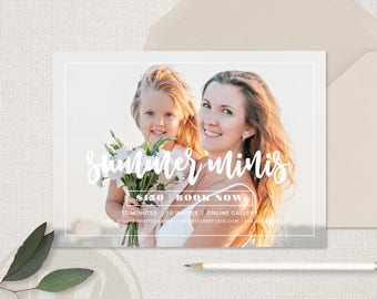 Summer Mini Session Template,  Summer Marketing, Summer Mini Sessions, Summer Marketing Board, Instagram Marketing, Photoshop Template