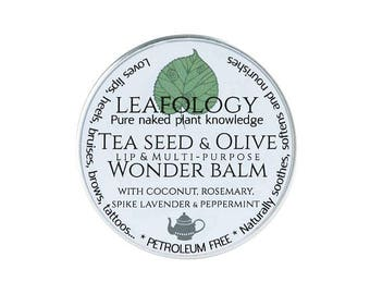 Tea Seed & Olive Lip (and multipurpose) Wonder Balm / Worldwide delivery + FREE UK SHIPPING