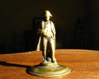 Napoleon Bonaparte, Waterloo, French Vintage Statuette,Solid Brass, Home Office Decor Decoration, Rare Collection