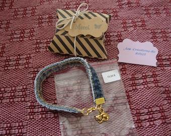 Jeans bracelet