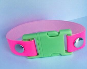 Chunky Reflective Safety Belt Buckle Choker