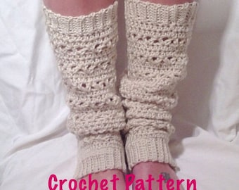Crochet Pattern - Lace Stitch Crochet Leg Warmer