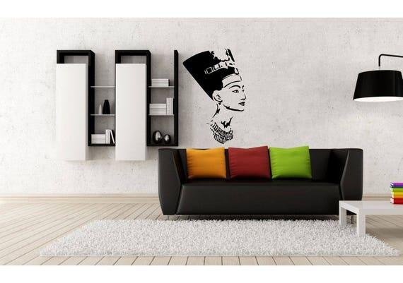 Nefertiti Wall Decal, Wall Sticker, Silhouette, Premium Wall Decal,  Nefertiti portrait, Queen Nefertiti, Nefertiti bust, Nefertiti Wall art