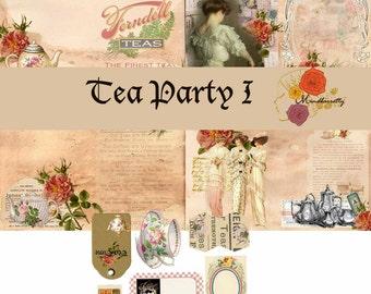 Tea Party I (Digital paper)