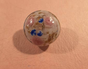 Vintage Venetian glass paperweight style button.