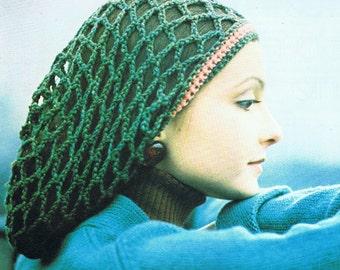 Rasta Tam Crochet Pattern PDF (T203) Vintage