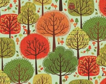 Fat Quarter Trees Woods Forest Friends Cotton Quilting Fabric Makower 1519/T