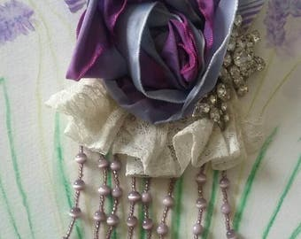Brooch corsage  lavender purple.ready to ship! I only make one of a kinds.was 38.00