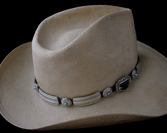 Sterling Silver Hatband with Turquoise ... Made to Order