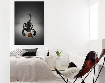 Printable art, Scorpion canvas print, Paper print, Office decor, Art Poster, Wall decor, Steampunk print, Birthday gift, anniversary gift