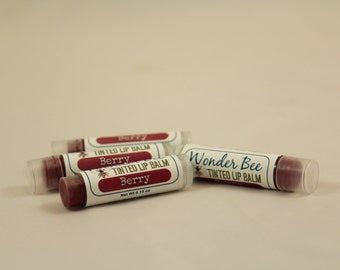Tinted Lip Balm  Berry // Lip Gloss // Lip Stain // Natural