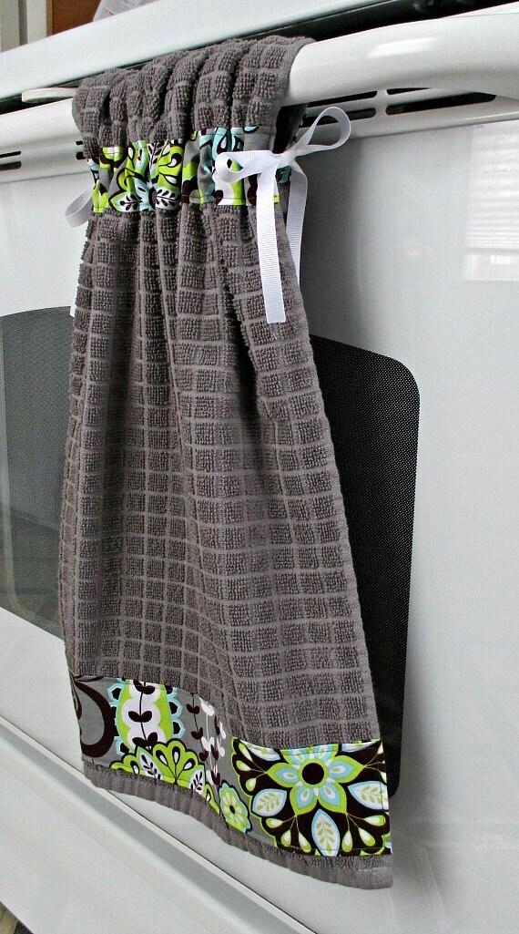 TIE Top toallas gris algodón toalla de cocina decorada con