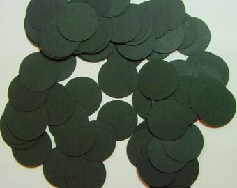 300 Black Cardstock Confetti circles, 1 inch size