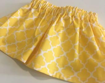 Baby Skirt / Girl Skirt / Toddler Skirt / Girl clothes / Baby Girl skirt / Baby Girl Outfit /  Girl Outfit / White and Yellow skirt