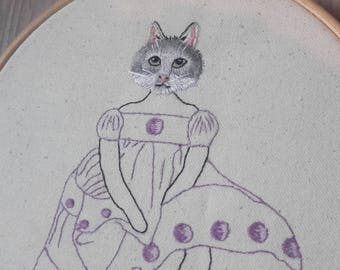 Embroidery pattern - Cat doll - PDF - Number 2