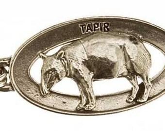 Pewter ~ Tapir Keychain ~ MK099