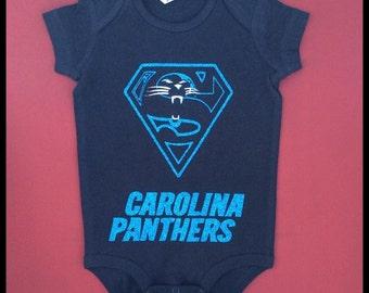 Infant Carolina Panther Onesie Custom Made